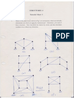 Tutorial Sheets Theory of Structures II