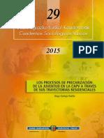 Los procesos de precarización de la juventud en la CAPV a través de sus trayectorias residenciales