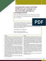 Caracterizacion Sismica de Fallas Colombia Por Analogia Con Fallas Conocidas Geologica y Sismlogicamente