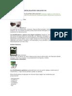 Clases de Biofertilizantes Organicos
