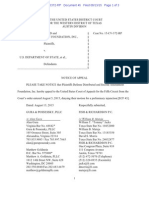 Defense Distributed v. U.S. Dep't. of State Notice of Appeal 1