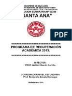 Proyecto de Recuperacion 2014