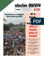 Semanario Revolución Obrera Edición No. 439