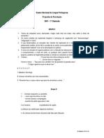 Proposta Resolucao 2007 1 Chamada