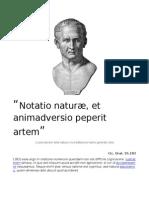 Notatio naturæ