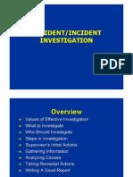 Accident.incident Investigation 2012