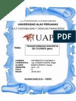 Transformada Discreta de Fourier (Tdf)