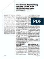 Production Forecasting for a Gas Field With Multiple Reservoirs