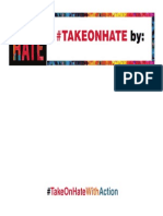 #TAKEONHATE Week of Action Pledge Card