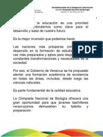 21 01 2011 Abanderamiento de la Delegación Veracruzana a la XX Olimpiada Nacional de Biología