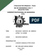 Recursos Hidricos en Amerca Latina