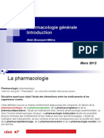 1 Introduction Pharmacologie 2012-2