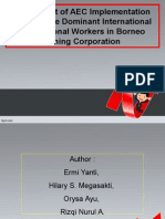 The Impact of AEC Implementation Towards the Dominant International Professional Workers in Borneo Mining Corporation(1)