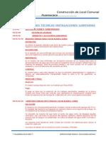 Especificaciones Tecnicas Inst. Sanitarias Cerro de Pasco