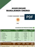 Pengantar Manajemen Energi