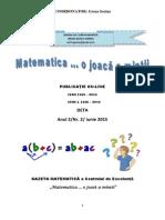 """Gazeta Matematică """"Matematica...o Joacă a Minții""""Ediția a II-A"""