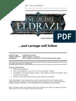 Rise of the Eldrazi Sales Solicitation