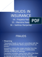 Frauds in Insurance
