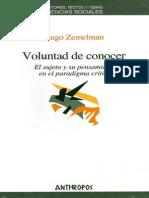 Zemelman, Hugo- Voluntad de Conocer