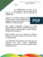 02 03 11 Entrega de viviendas y plazas de base a trabajadores de Petróleos Mexicanos en Minatitlán
