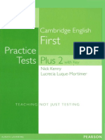 Cambridge English Practice Tests Plus First 2 NE 2014 209p