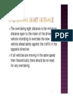 Overtaking Sight Distance