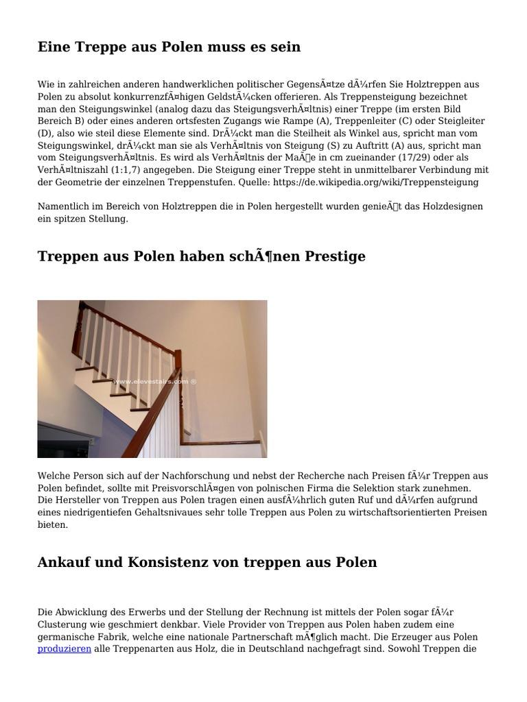 Steigungsverhã¤Ltnis Treppe | Eine Treppe Aus Polen Muss Es Sein