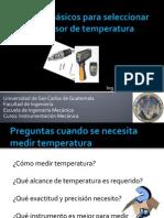 Seleccion de Sensores de Temperatura