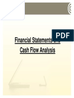 1 Financial Statements and Cash Flow Analysis