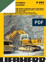 Technical Description Hydraulic Excavator
