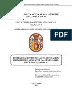 Determinación de Zonas de Alteración Hidrotermal Mediante Imágenes ASTER - Cajamarca