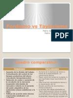 Fordismo vs Taylorismo