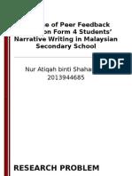 Research Proposal Presentation (M. Ed. TESL)