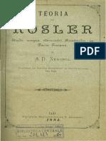 Teoria Lui Rosler VII Toponimia A.D.XENOPOL