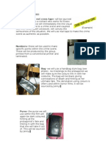 Organisation of Props Crime Scene
