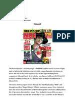 Three Magazines Analysis