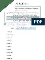 Ejercicios cambios de unidades de superficie