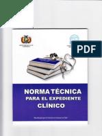 NORMA TECNICA DEL EXPEDIENTE CLINICO.pdf