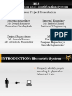 IRIS IRIS Recognition and Identification System Final