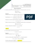 Corrección Segundo Parcial de Cálculo III(Ecuaciones Diferenciales), 12 de octubre de 2015 (tarde)