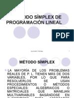 El Método Símplex de Programación Lineal