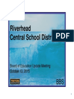 RIverhead school board presentation construction progress and budget