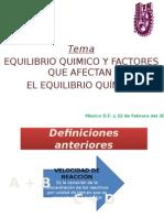 Factores Que Afectan El Equilibrio Quimico