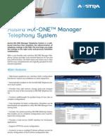 MX ONE Manager Telephony System Datasheet LZT1024105 100428 RC