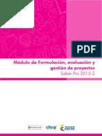 Modulo de Formulacion Evaluacion y Gestion de Proyectos Saber Pro 2015 2