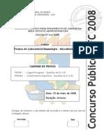 UFC-CE CCV Técnico de Laboratório Imunologia-Microbiologia 2008