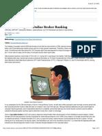 Barron's 2015 Ranking of Online Brokers