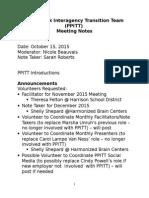 PPITT 101515 meeting minutes