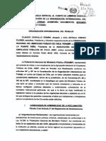 Queja OIT - 5 dic 2014