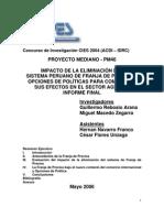 Impacto  de la eliminación del sistema peruano de franja de precios y opciones de politicas para compensar sus efectos en el sector agrario informe final
